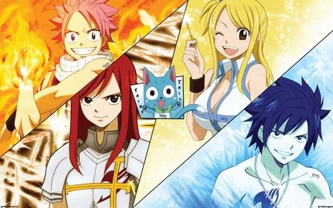 1. Fairy Tail 2. Toradora 3. دکھائیں سے طرف کی Rock 4.Lucky سٹار, ستارہ 5. Okami-San and her 7 companions 6. Love, Chunibyo,and Other Delusions 7. Working! 8. Puella Magi Madoka Magica 9. Bento 10. the pet girl of Sakurasou 6.