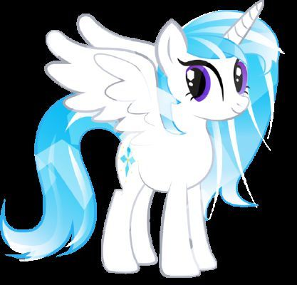 pony will be Alicorn. The color of my mane will be white and royal blue with indigo.my work...I didn't chose any thing . My cutie mark will be 4 dimonds Name will be Crystel night.