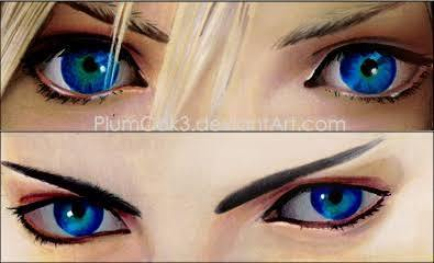 I'd keep my eyes how they are. But if I had to change them then maybe I'd go for some FFVII SOLDIER blue eyes, mako infused yo. I like how they've got a bit of green in the middle.