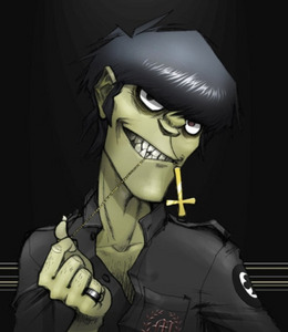 I guess Wicca. My mom is Wiccan and she told me a bit about it and I'm pretty interested in it tbh. Other than that, I'd probably wanna be a Satanist. Not any of that devil-worshiping sacrificial shit like in the movies, though. (Also, I know Murdoc actually is a devil-worshiper, but I'm gonna post a pic of him anyways. All hail the jeruk, pickle man)