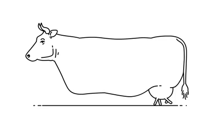 This was a gif and the cow was walking on its udders.