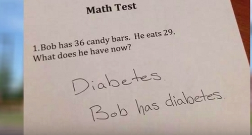 what makes me laugh? hmm. funny kid answer on quizzes/tests