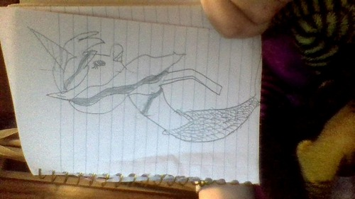 wow ur good at drawling compared to me: (my Unimaid- Unicorn mixed with a mermaid)