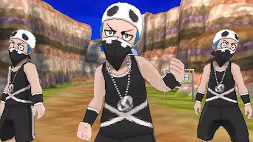 Signature mask? That is uh...what mask 你 can be identified with, ja? Team Skull has good mask xD