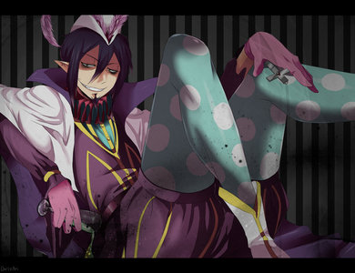 Mhm! I like legs. Slender legs or legs that are pretty well-shaped. I fuckin pag-ibig legs. And hands. Either really feminine hands (I'm attracted to my own hands lol) or bony hands for some reason. :v Mephisto has amazing legs and hands. This just adds to why I pag-ibig him. (the picture is tagahanga art, tho)