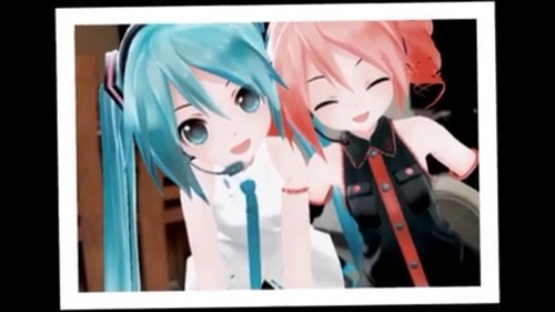 I got into Vocaloid cause of a friend I no longer talk to anymore. He was wearing a Hatsune Miku T-shirt. I asked him about it. And later I listened to Hatsune Miku World I'd Mine and প্রণয় is War Live সঙ্গীতানুষ্ঠান song on YouTube. Later I played Hatsune Miku Project Diva Video Games that came out. I got into all sorts of Vocaloids. And Manga. Now years later I'm a huge Hatsune Miku and Vocaloid fan. Picture is Hatsune Miku and Kasane Tato posing in a best friend forever bff picture together. I screenshot this picture from a Hatsune Miku MMD Miku Miku Dance video I saw someone post on a Hatsune Miku page on Facebook. So adorable. <3 That's how I got into Vocaloid cause of a friend from high school. Been loving ভোকালয়েড ever since than. :3