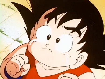 Kid Goku. I wanna give him a hug <3 If te don't find this adorable then you're heartless