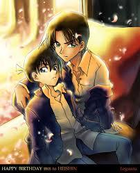 All of your respuestas are popular but 1 shipping got my attention. Detective Conan's Heishin (Heiji Hattori X Shinichi Kudo). Best shipping of my life! #HeishinIsLife