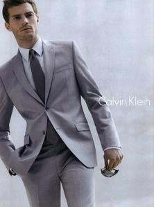 my handsome Irish babe,Jamie Dornan looking gorgeous in a grey suit<3