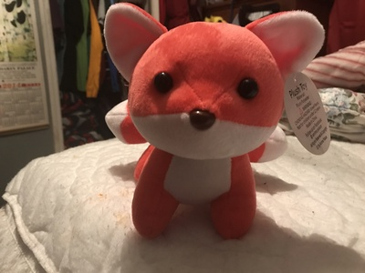 Honestly? I wound up not getting any sleep last night, stayed up all night. I'm tired, but functional. Probably going to do something to keep me awake, at least until later tonight. Photo: My adorable, 5-tailed, stuffed fox. I amor this cute thing. <3