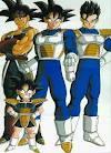 Bardock, Goku, Gohan, and Goten from Dragon Ball Z