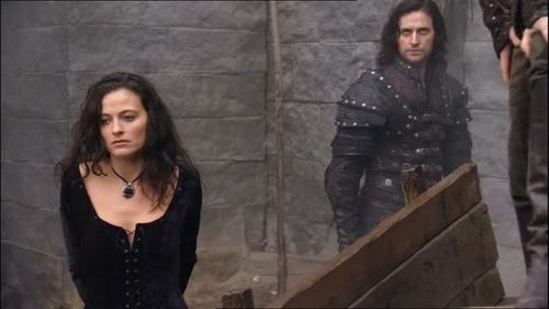 I think it would be cool to see Lara Pulver take up her role as Isabella (from BBC's Robin Hood) again. o Emilie volpe stella, star as Morgause again. Helena Bonham Carter would make a kickass OUAT style twist on Scar from the Lion King.