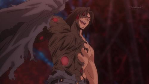 Qualidea Code: Gutoku Asanagi when he goes under a two-faced transformation.