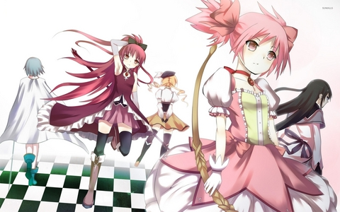 I've always thought Madoka Magica had a pretty pretty good female cast