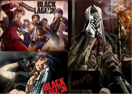 Black lagoon and Hellsing ultimate
