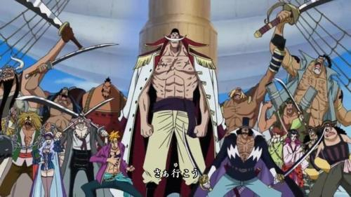 With the Whitebeard Family from One Piece ^_^