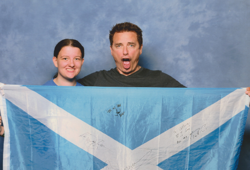 Me and JB from Collectormania tthis weekend with my scotland flag :)