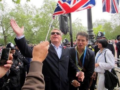 John and UK flag <3
