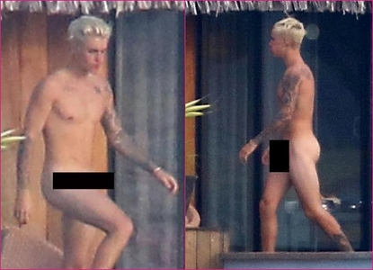 Justin in his birthday suit