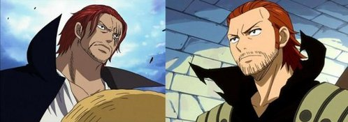 Shanks (One Piece) Gildarts (Fairy Tail)