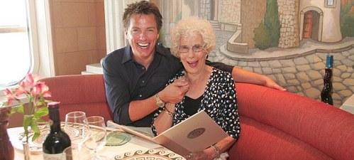 John and his mum , Marion :)