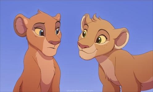 In a pride of lions the male mates with all females simba obviously did because of tiffu and Zuri