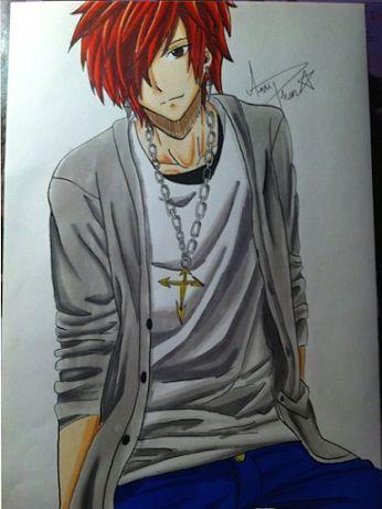 fanart of erza as a boy....(S)he looks reallyy cool!!❤️ (not my art)