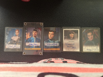 I have some signed star, sterne Trek cards that I am looking to sell