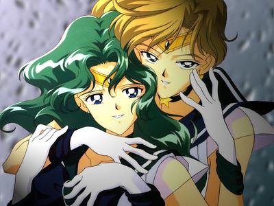 Sailor Uranus and Sailor Neptune, forgot their original names, so sorry!