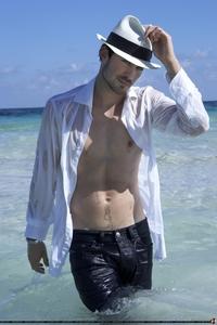 Ian wearing a hat