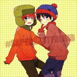 An জীবন্ত picture of Stan and Kyle from South Park.