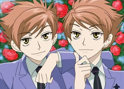 either one of the twins. IDEK which one help XD