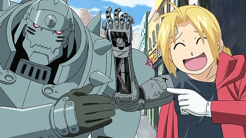 (This one is kinda obvious and overrated but I don't care...) Edward and Alphonse Elric from one of the best anime series of all time; Fullmetal Alchemist:Brotherhood. I totally recommend the series for beginners and to watch with your brother(s)