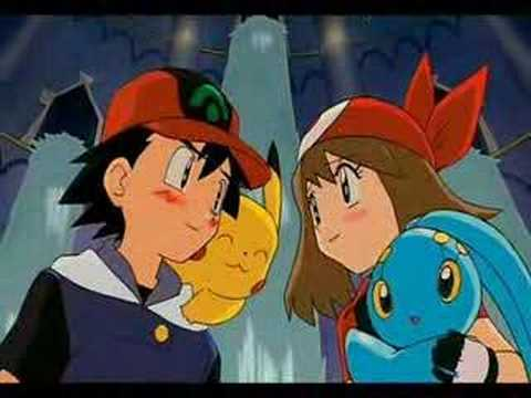 Ash and May from Pokemon
