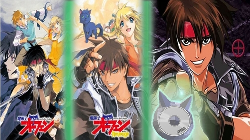 Sorcerous Stabber Orphen. His name is Orphen with an en not to confuse it with an an. And he is one of the powerful Sorceries at the Tower of Fang. He is the guy with the black cloths and red headband. This is an 아니메 that i recommend 당신 to watch. It has 2 seasons Dub/Sub. It also has a Video Game and 망가 book series. I can't say it's my favorite. But i do like the character Orphen.