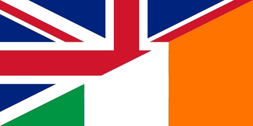 I live in Belfast, Ulster (Northern Ireland). Last time I've checked it's still in UK. Love my country very much. Proud to be both English & British. Still, I'm married to an Irishman now, so I have to respect my husband's feelings as well as my own. Although literally worlds apart, we are nevertheless madly in love. It's true what they say, the opposites DO attract! Seán & I we're a living proof. We share everything together, including our lives, so why not sharing both of our flags as well.