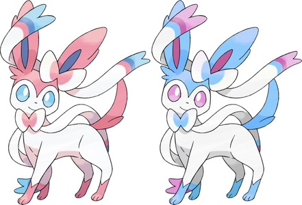 Sylveon. Literally, its colour scheme is just inverted. That's lame...
