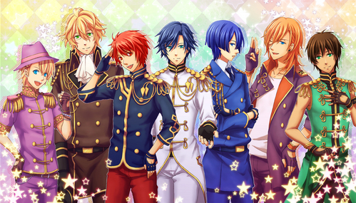 Basically every reverse harem known to weeb. But here's a list. Akatsuki no Yona Ouran Highschool Host Club Free! Brothers Conflict Diabolik mga manliligaw Arcana Famiglia Uta no Prince-sama (pic) Amnesia Kamigami no Asobi Kamisama halik (Didn't finish, not sure if harem or not...) Tokyo Mew Mew
