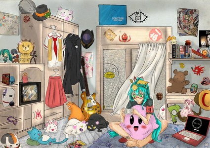 I like pics with tons of Anime references hidden in them. <3