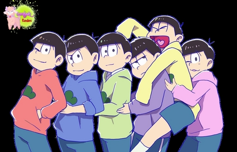 Mine starts with 'S' so..... sadly there aren't any CHARACTER that starts with 'S' from Osomatsu-San 或者 any 日本动漫 I CAN think of. WHY IS 'S' SO MEAN TO ME!!? So here are all the sextuplets. Sense that starts with 'S'