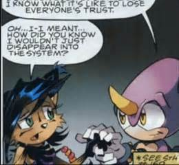 hmm ok I'm not sure..but uumm it.ooh >:) Espio and Nicole honestly they seem cute together but It my opinion