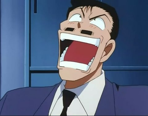 Mine has to be either Mouri Kogoro 或者 Inspector Yamamura from Detective Conan also I agree on Luffy as well!