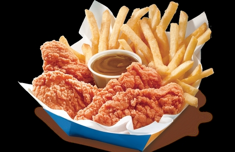 Chicken strips and fries. Not exactly healthy but I really don't care.