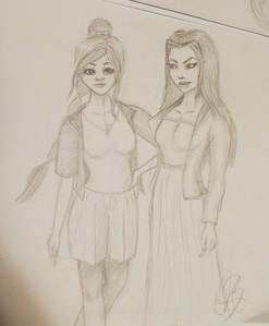 Made a quick sketch this evening and didn`t know whether to post this ou no and where. :D They are supposed to be Ty Lee and Azula, but I`m relatively new to animé style, so they don`t resemble them so much tho. ;_; And don`t pay attention to those freaking hands.