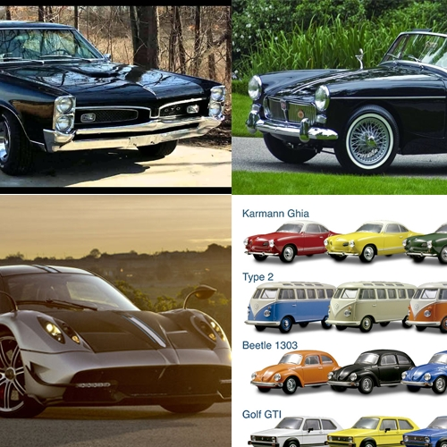 -1960's Pontiac GTO in black PLEASE -A Pagani huayra even though thats like super unrealistic PLEASssssssse -MG Midget also in black please thank Ты -A гараж full of classic VW's but mostly of busses pls thanks also the midget is named Morticia and the GTO is named Gomez and they're a married couple