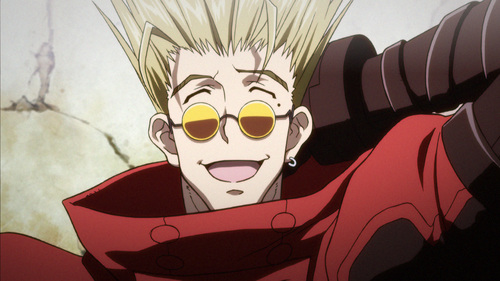 Vash from Trigun. <333 Honestly he still is my most favourite character.