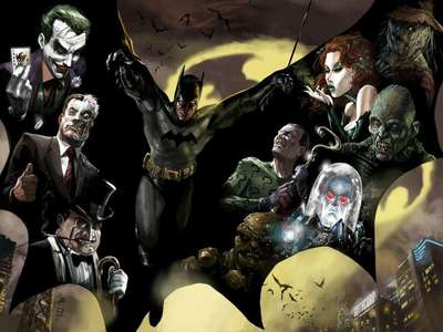 These are my faves :) Joker пингвин Mr Freeze The Riddler Two-Face