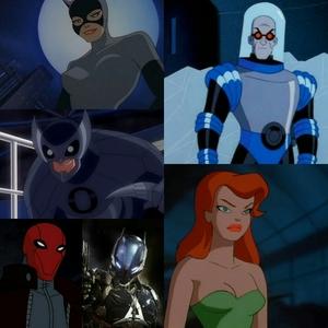 1. Catwoman 2. Owlman 3. Red Hood/Arkham Knight 4. Mr. Freeze 5. Poison Ivy