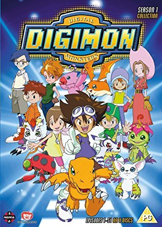 Digimon Besides Power Rangers, this was my shit back in the 90's. Good times.
