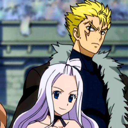 Mirajane and Laxus.